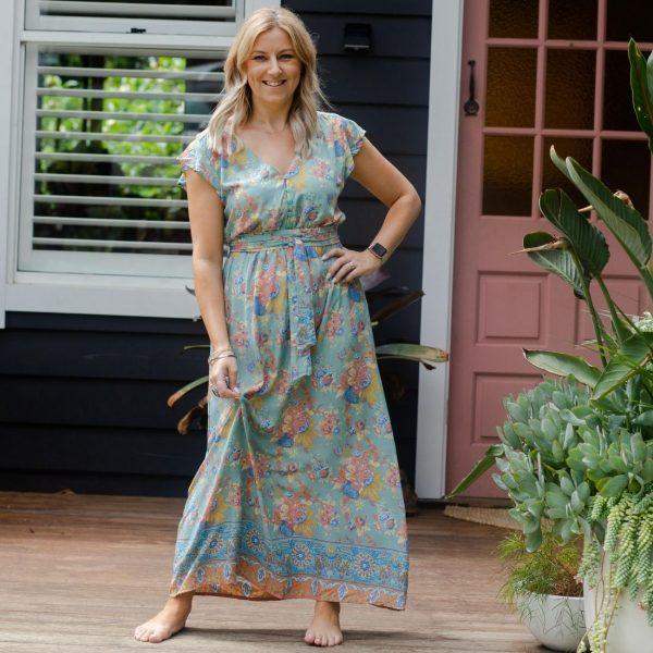Maxi Dress - Garden Rose