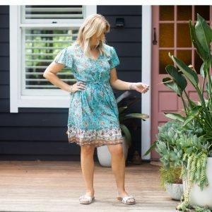 Badoll Dress- Turquoise